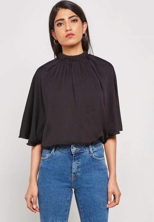 High Neck Frill Sleeves Body