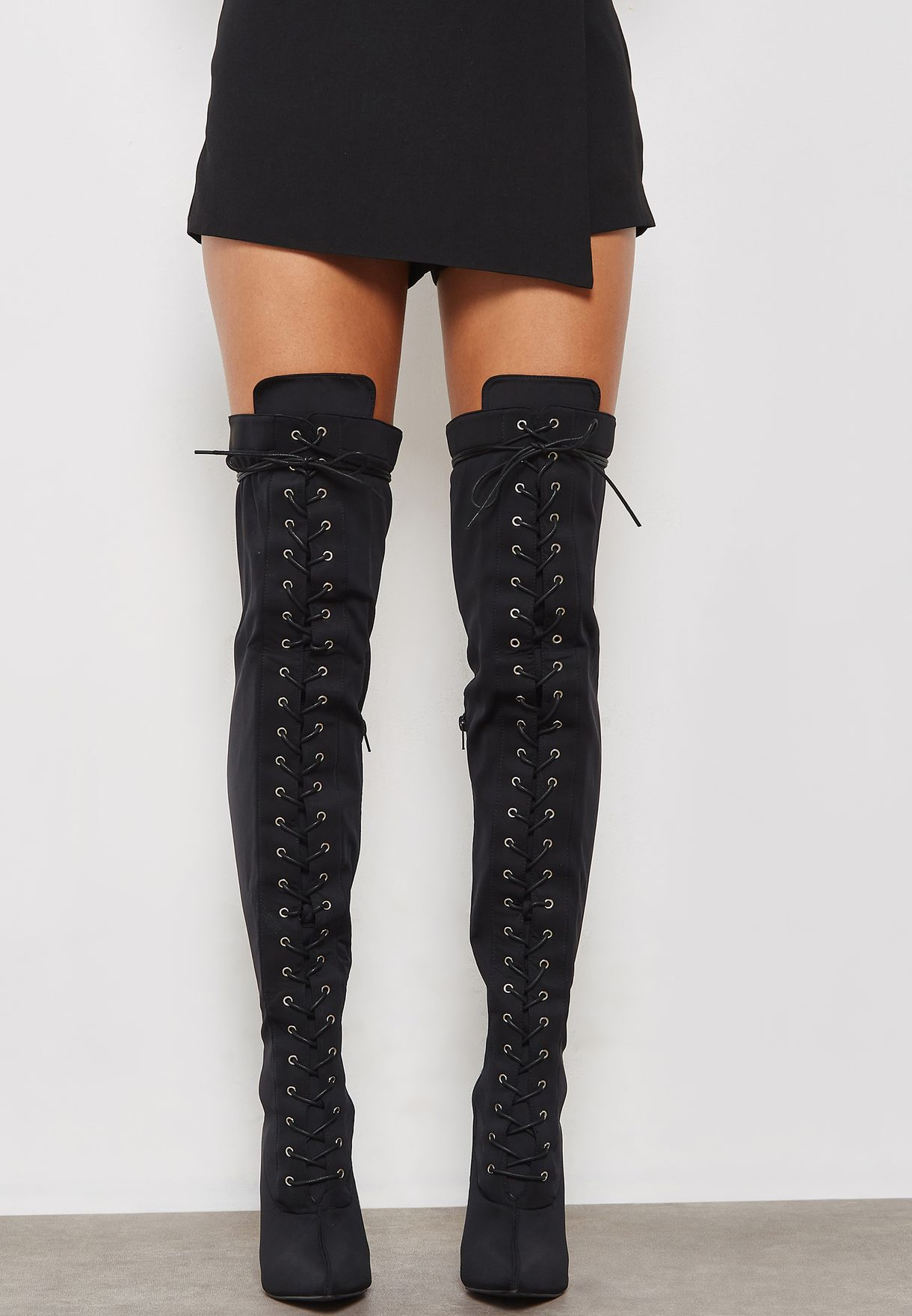 4614456c187 Shop Truffle black Aak Knee Boot AAK102 for Women in Saudi ...