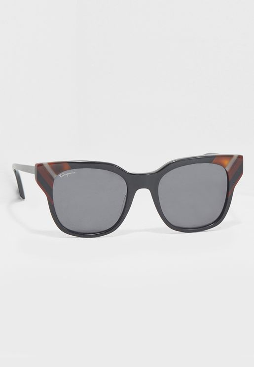 Striped Frame Wayfarers