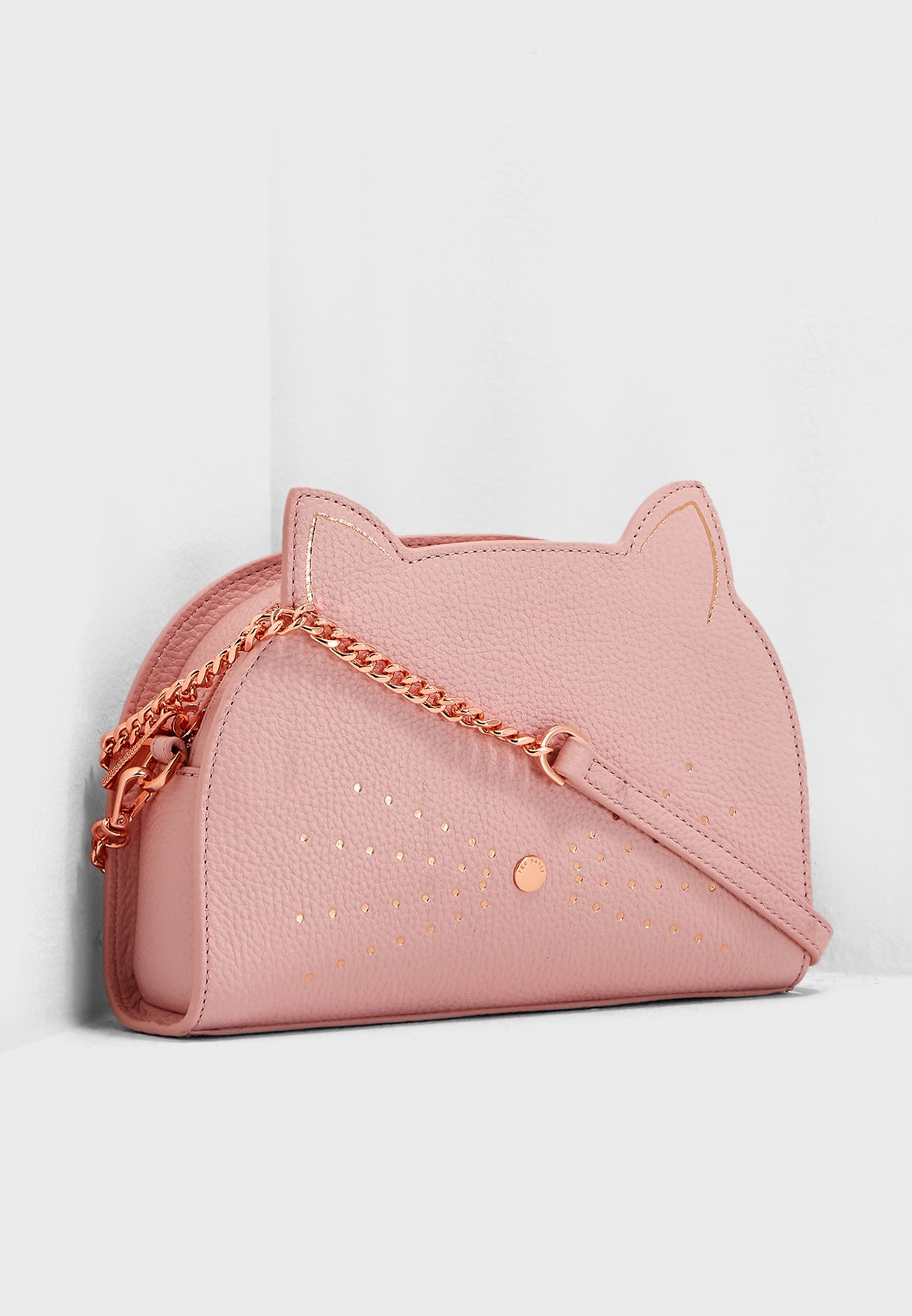 073e943c1 Shop Ted baker pink Kirstie Cat Crossbody 148978 for Women in UAE ...