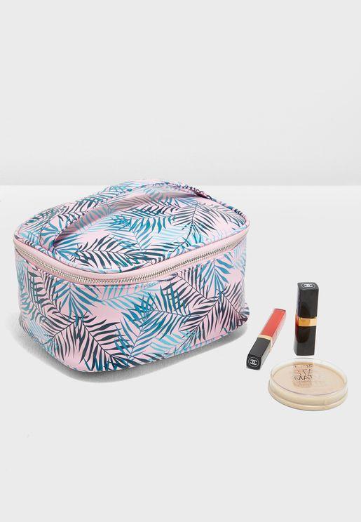 Palm Leaf Cosmetic Bag