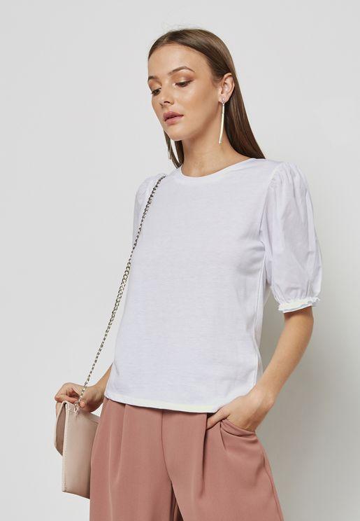 Puffed Sleeve T-Shirt