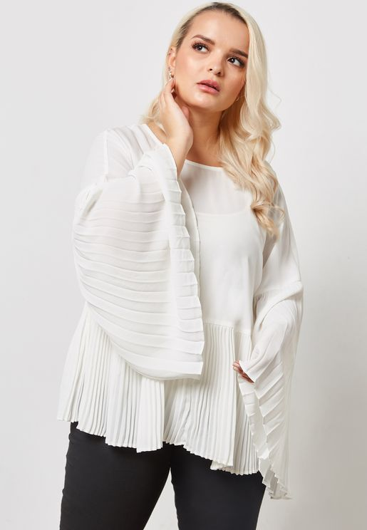 Pleated Smock Top