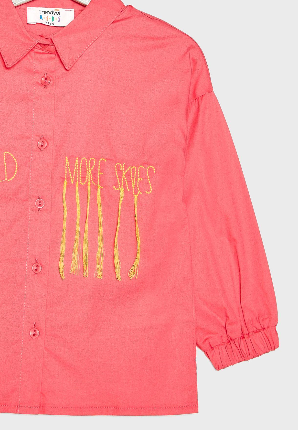 Little Tassel Detail Shirt