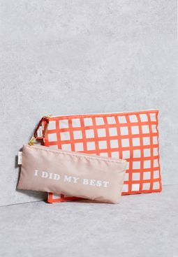 2 Pack Lattice + I Did My Best Pouch