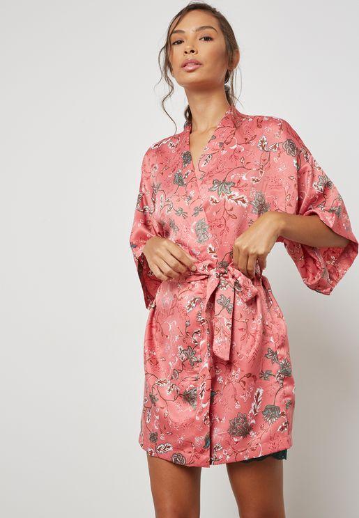 Printed Belted Robe