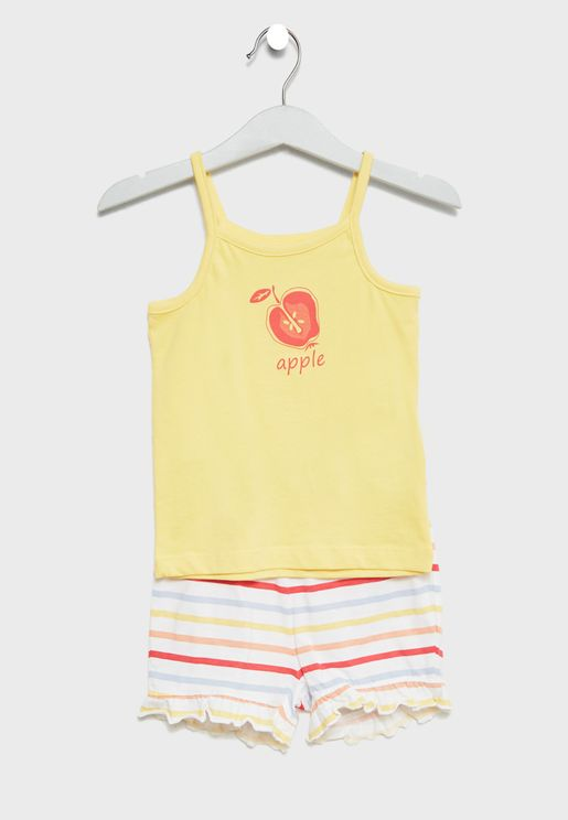 Infant Strap Top + Shorts Set