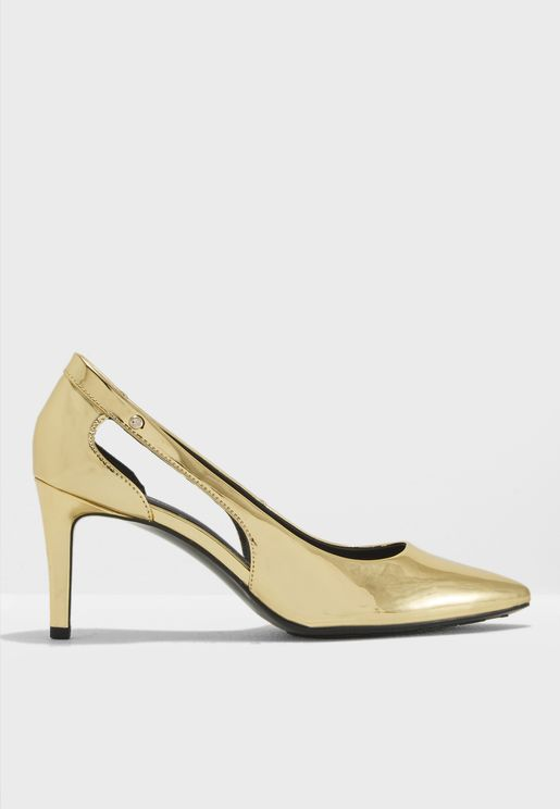 Mirror Metallic Cut Out Pump