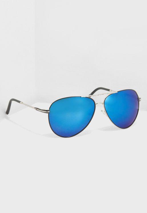 Polarised Lens Aviator Sunglasses