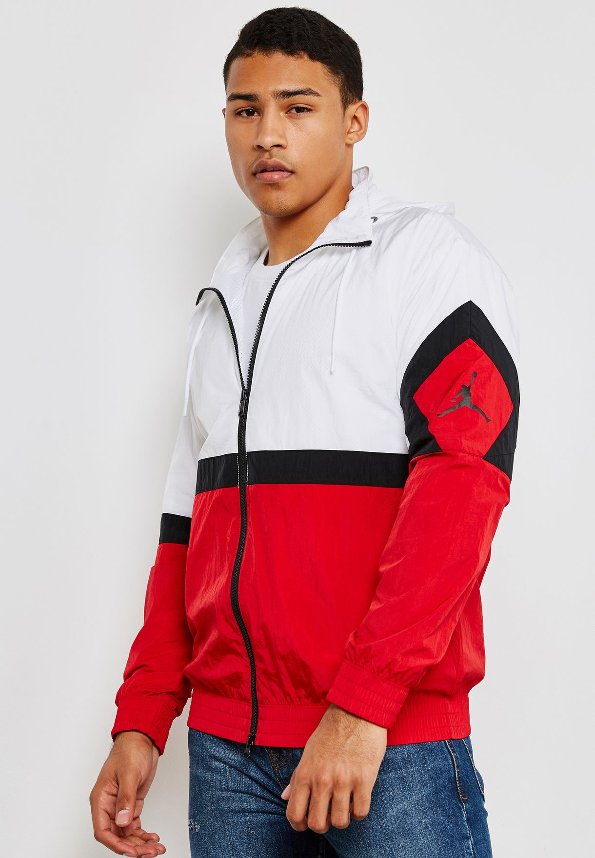 abcd7b2809a4 Shop Nike white Jordan Diamond Track Jacket AQ2683-100 for Men in ...