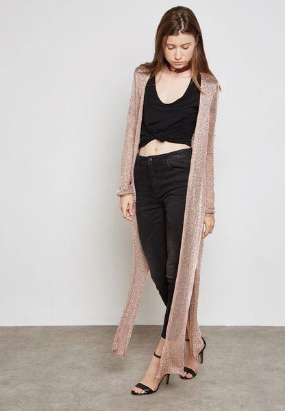 Shimmer Longline Cardigan