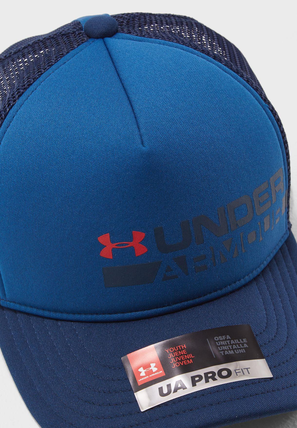 Shop Under Armour blue Kids Novelty Trucker Cap 1305462-487 for ... e1e77c4cc569