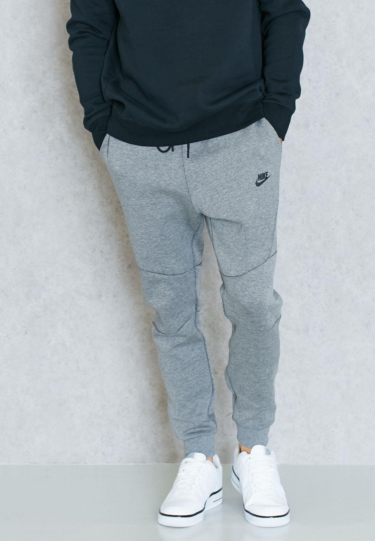 95e8c34e6acc Shop Nike grey Tech Fleece Sweatpants 805162-091 for Men in Saudi ...