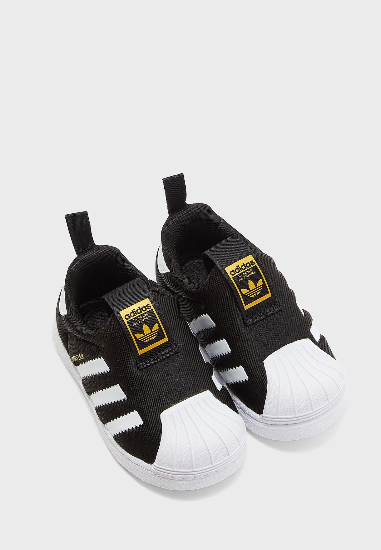 2c33e4e64c37 Shop adidas Originals black Infant Superstar 360 S82711 for Kids in ...