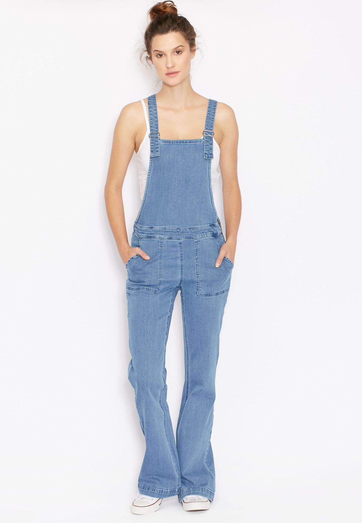 f1887c508554 Shop Noisy May blue Denim Dungaree for Women in Oman - NO577AT75UBS