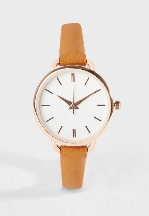 Cute Curved Analog Watch