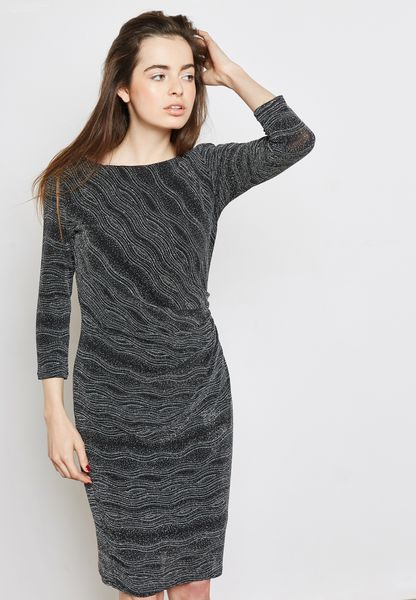 Glitter Wave Shift Dress