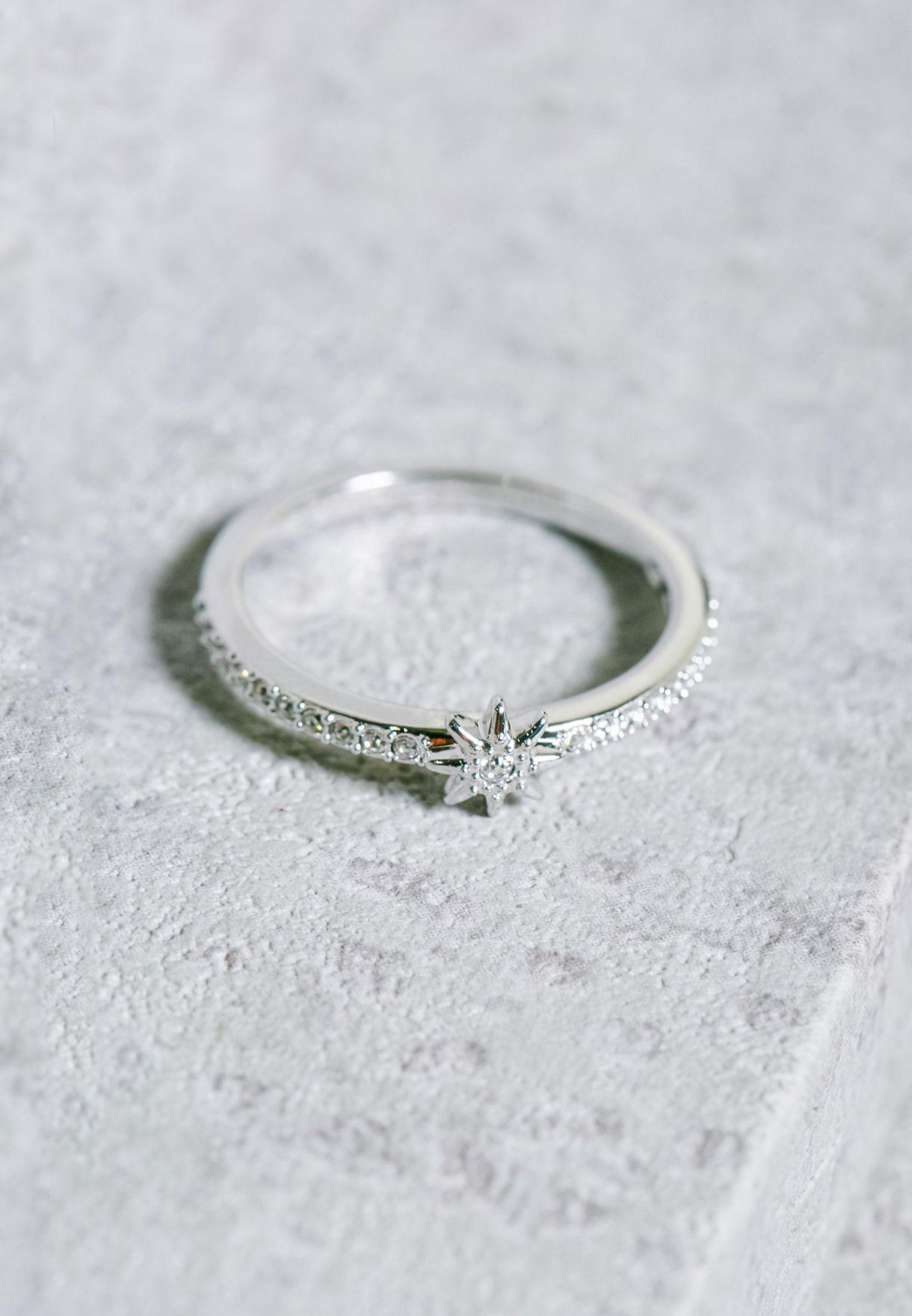 Shop Swarovski silver Fizzy Ring Set 5217792 for Women in Saudi ... 20deaec0f6