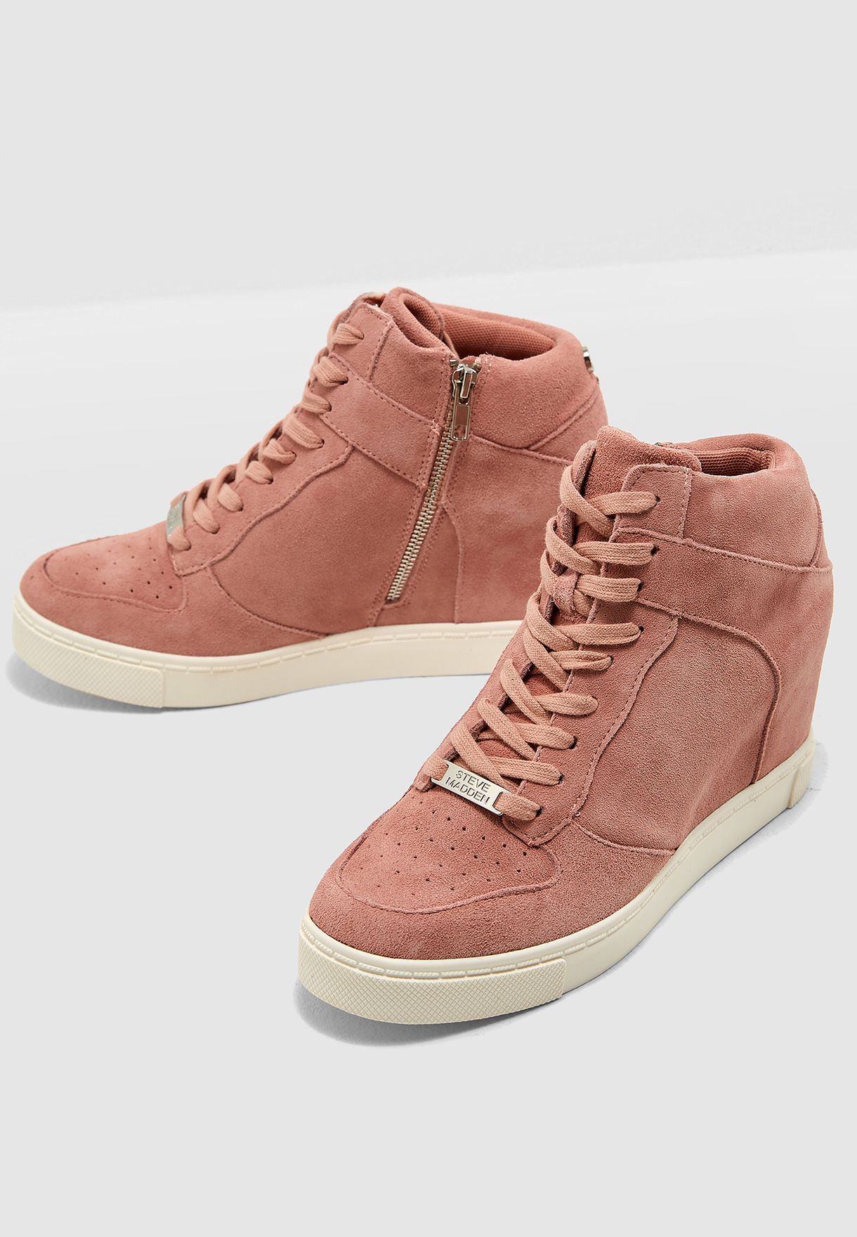 c3f6b47cea3 Shop Steve Madden pink Noah High Top Sneaker NOAH for Women in UAE ...