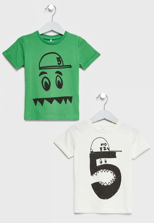 Kids 2 Pack Graphic T-Shirts