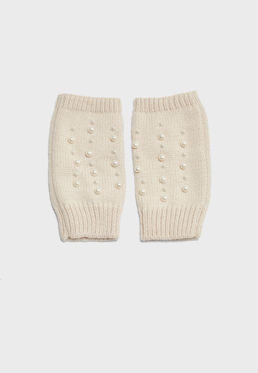 Pearl Fingerless Gloves