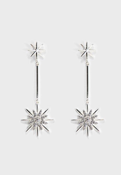 Starburst Bar Drop Earrings