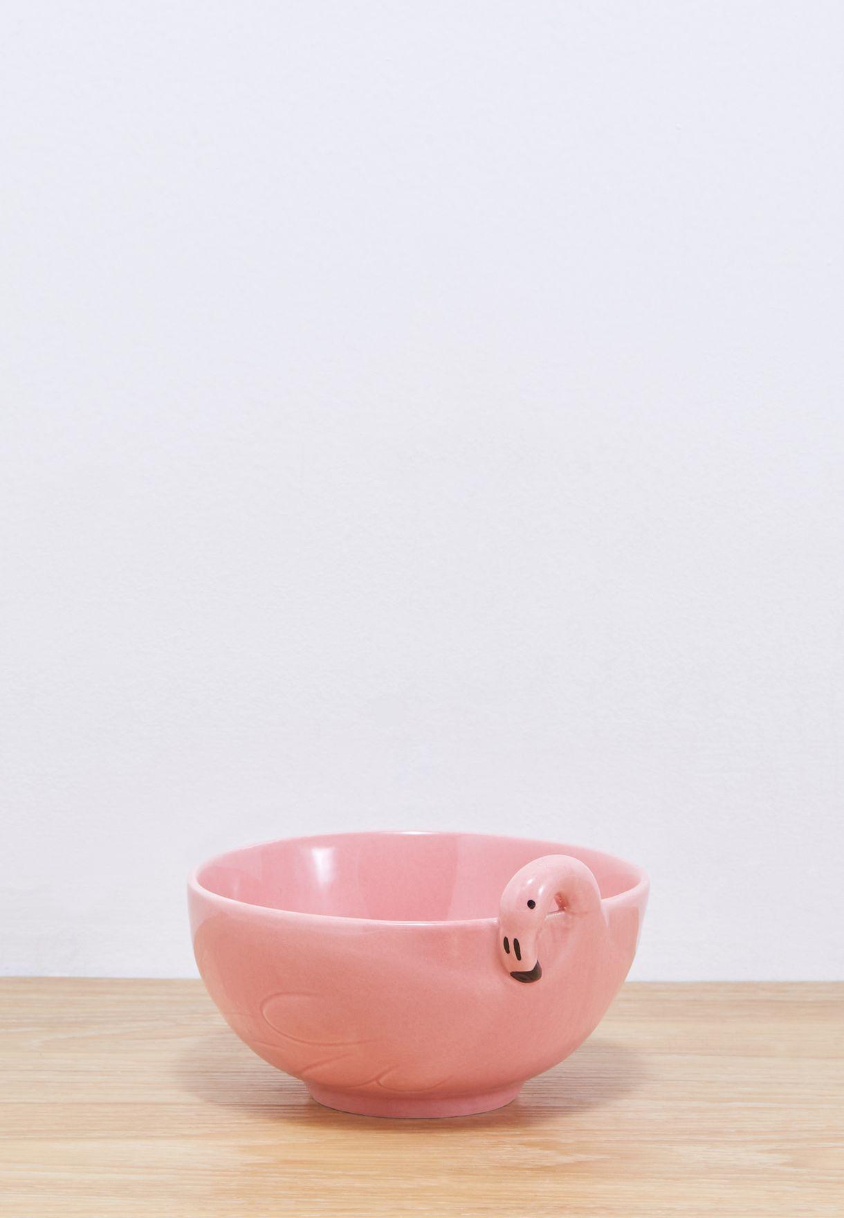 Tropical Flamingo Bowl