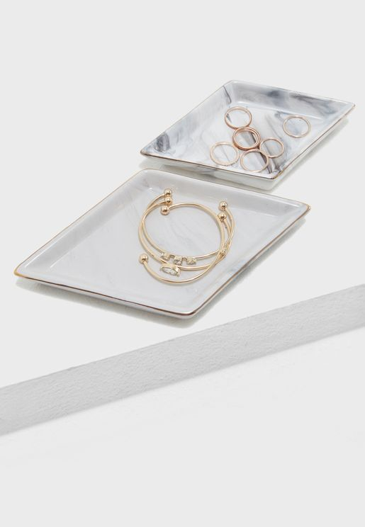 Diamond Marble Trinket Trays
