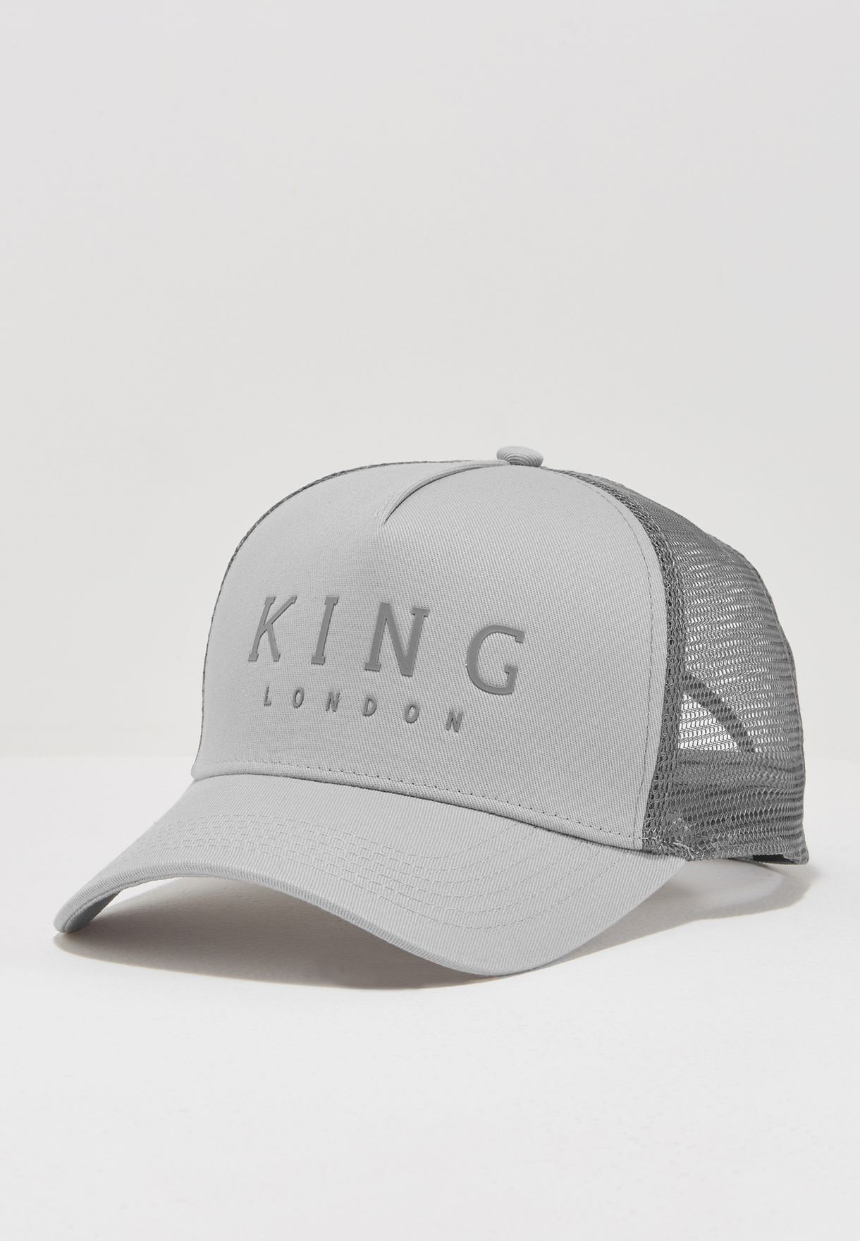 912dbe4e600a0 Shop King Apparel grey Mesh Trucker Cap ISS17-LMTGY-OS for Men in ...