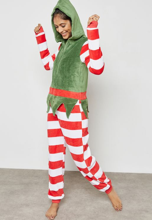 5ad243dd99 Christmas Colourblock Striped Onesie