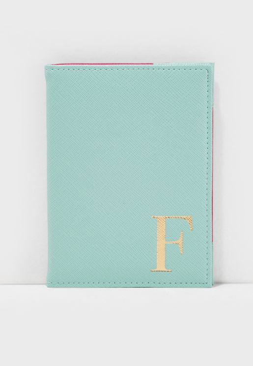 F Letter Passport Cover