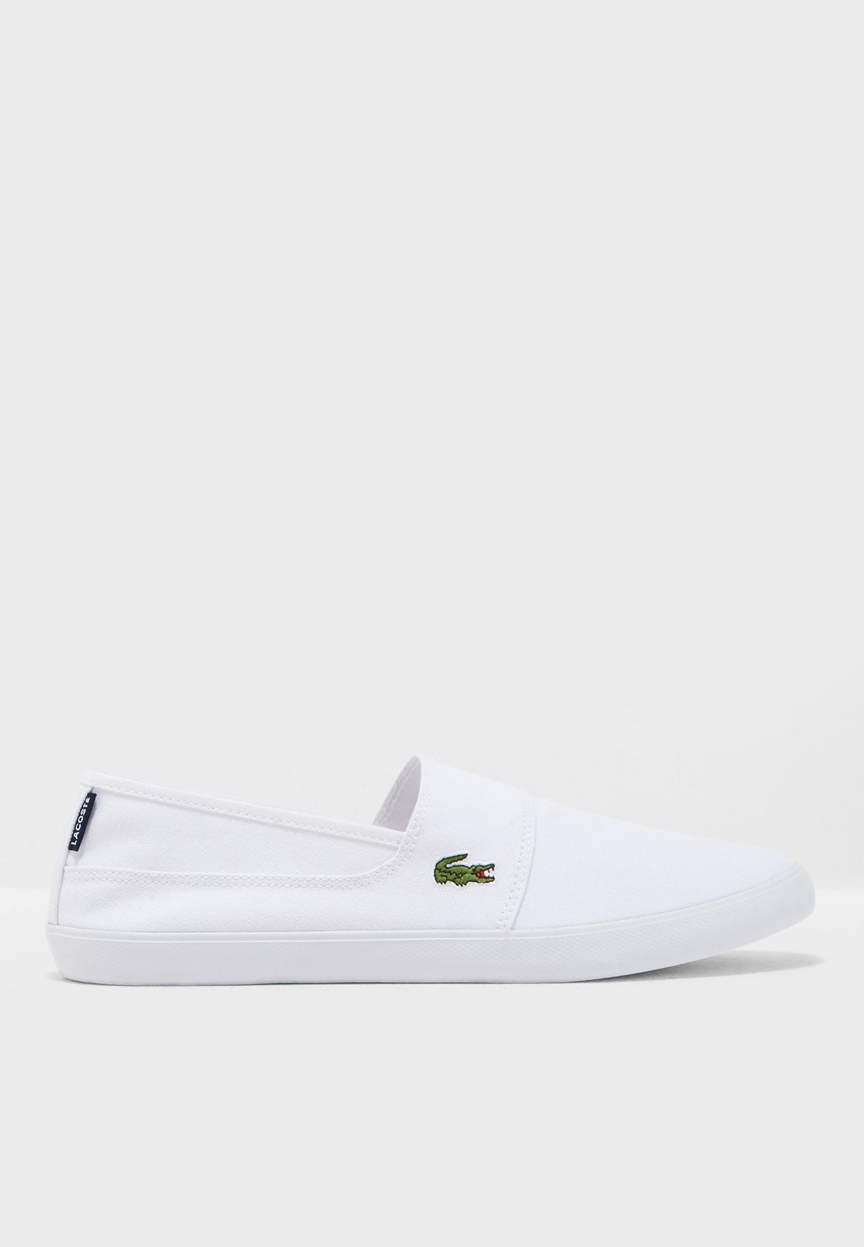 097951914d Shop Lacoste white Marice Slip Ons 33CAM1071001 for Men in UAE ...