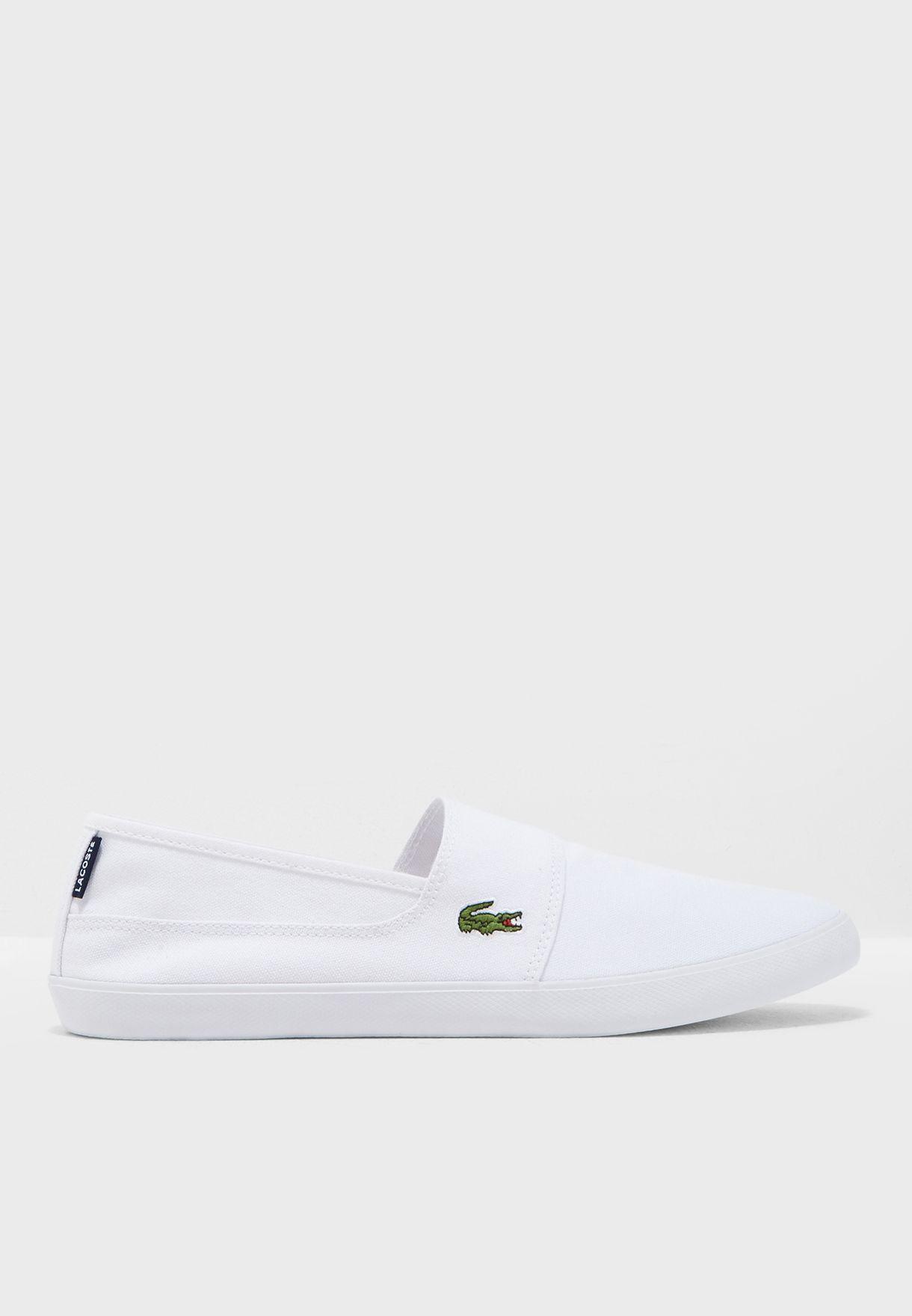 c37f1c1620414 Shop Lacoste white Marice Slip Ons 33CAM1071001 for Men in UAE ...