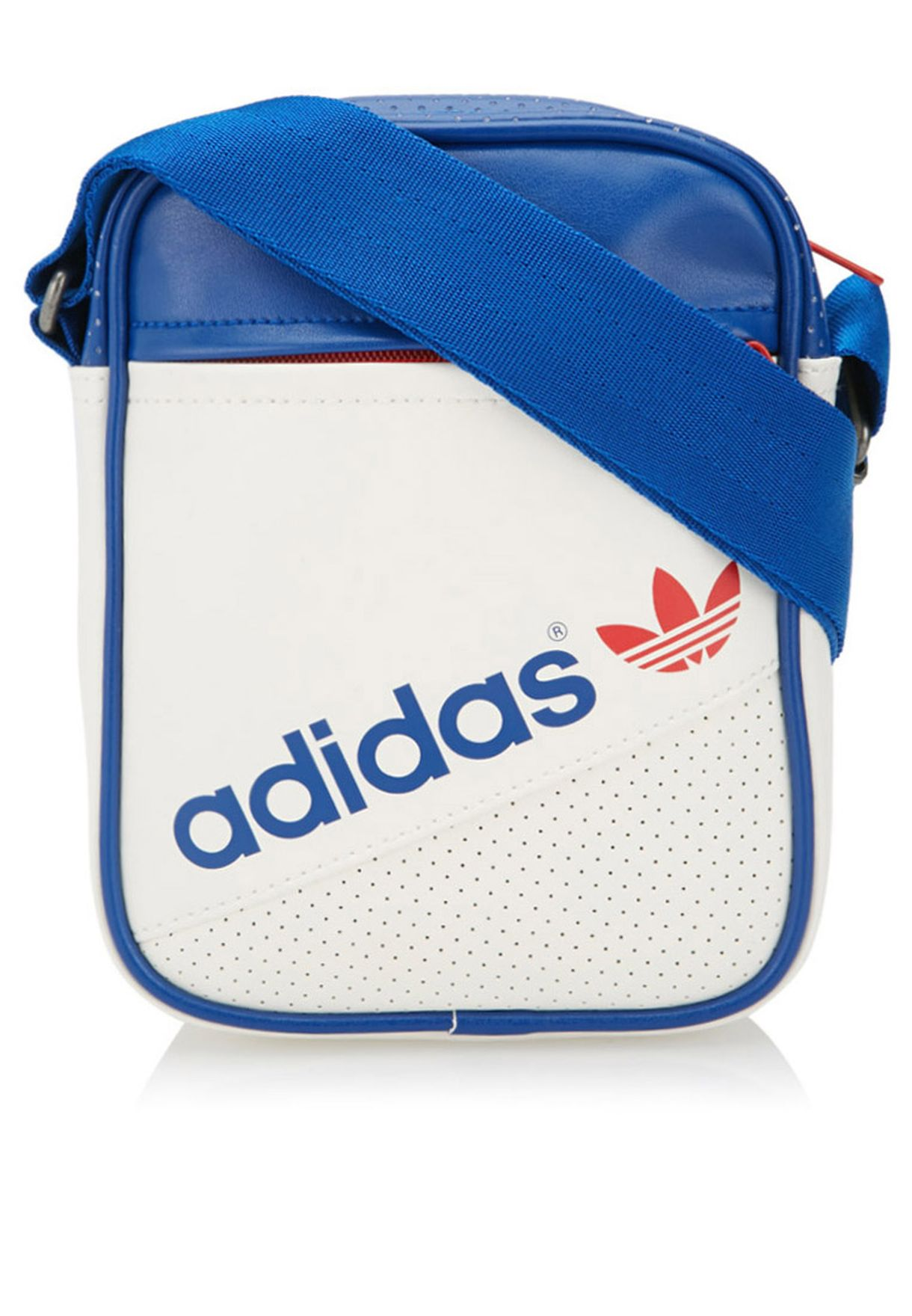 Shop adidas Originals white Mini Perf Messenger M34436 for Men in ... 6449f7c887ba0