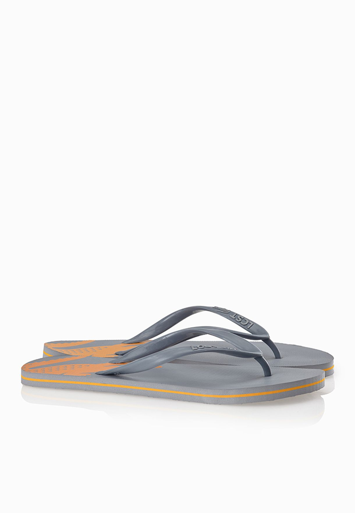 489cca7d1ce3 Shop Lacoste grey Frontflip CB Flip Flops 29SCM1118-S1M for Men in ...