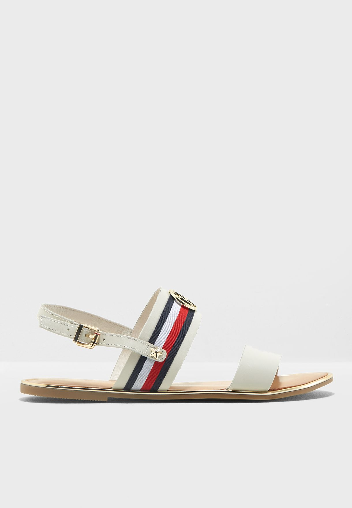 4cd3f04e4e3ee Shop Tommy Hilfiger white Ribbon Flat Sandal FW0FW02811121 for Women in  Kuwait - TO279SH75GHO