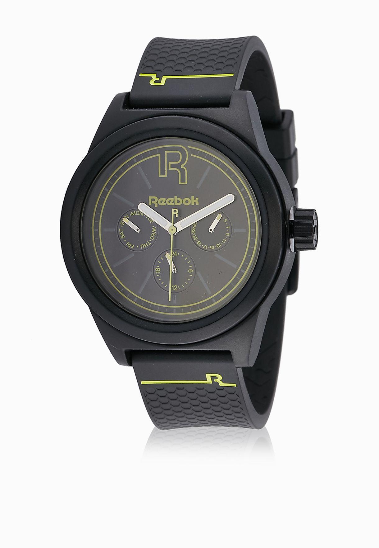 1387cbf10d3d Shop Reebok black Classic R Analogue Watch RC-CNL-G5-PBPB-BY for Men ...
