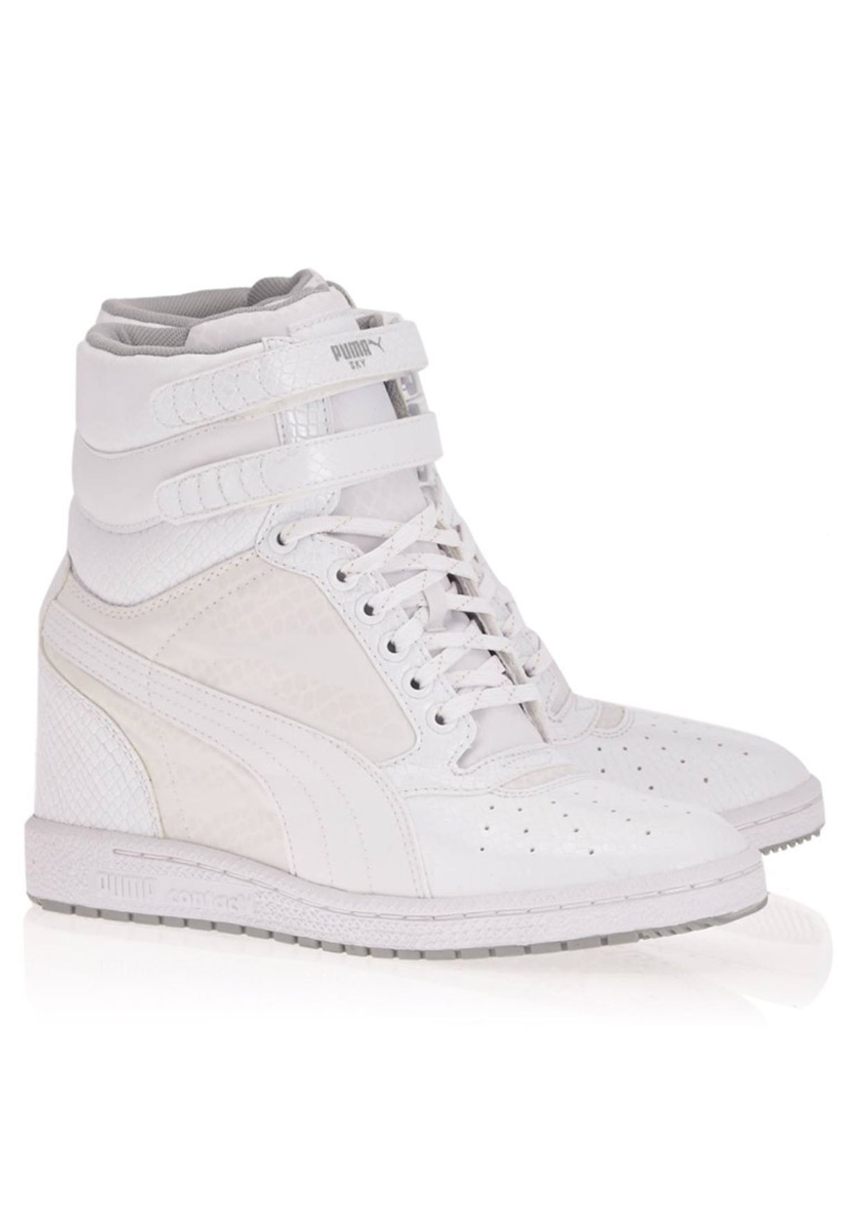 336bfb997a Shop PUMA white Sky Wedge Hi Sneakers 35687802 for Women in Kuwait ...