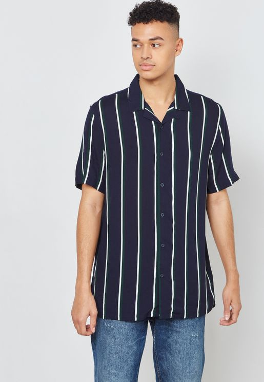 Stripped Slim Fit Shirt