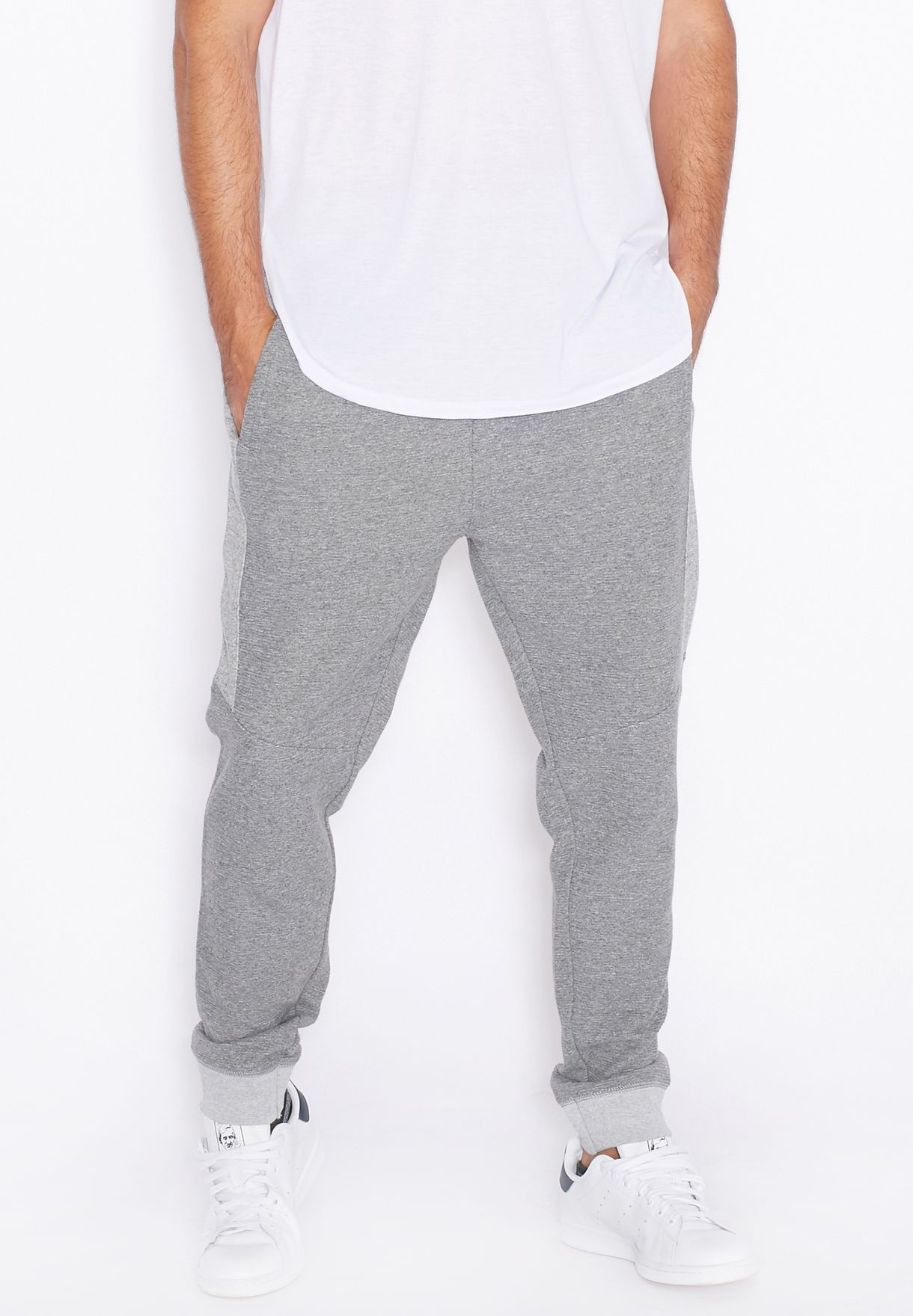 a6de447d Shop Topman grey Ottoman Cuffed Sweatpants 68J12MGRY/68J44MGRY for ...