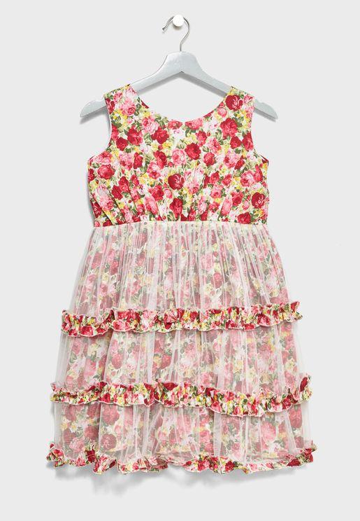 Little Floral Print Dress
