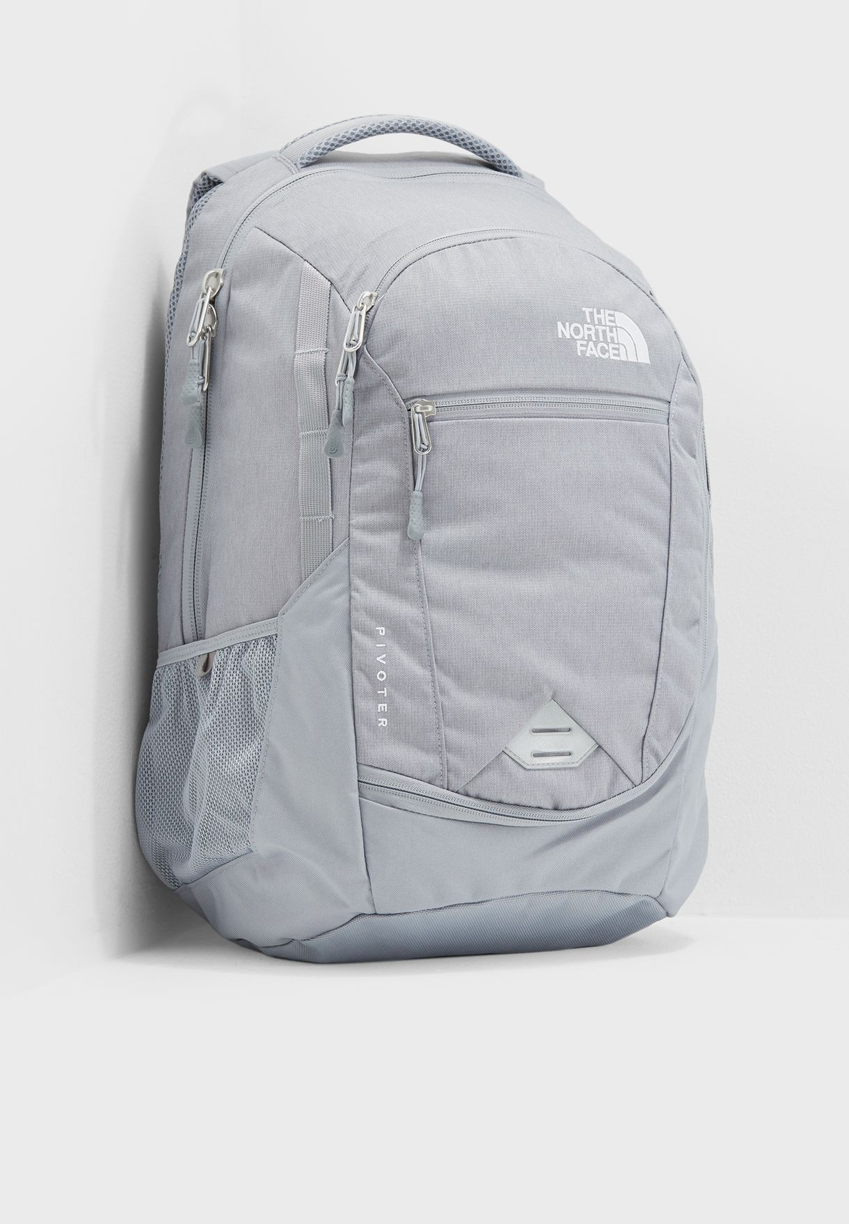 d6cabb7618 Shop The North Face grey Pivoter Backpack T0CHJ83NR for Men in UAE ...