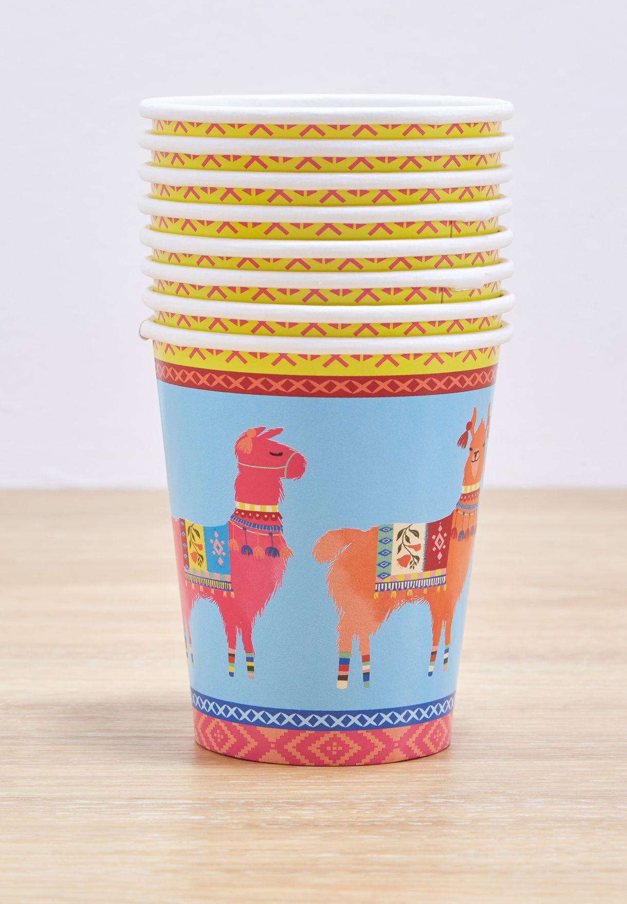 8 Pack Boho Mix Llama Cup