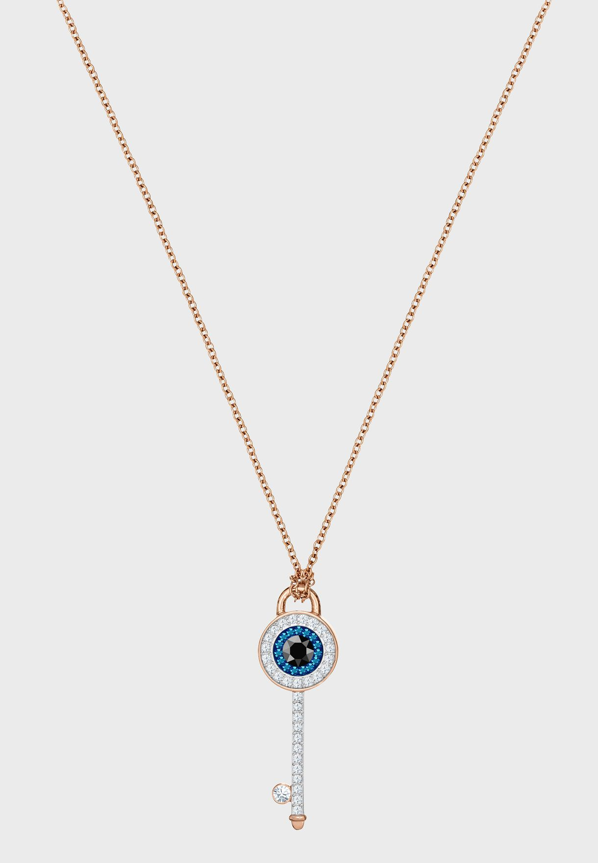 4f0e90d68 Shop Swarovski gold Duo Pendant Eye Necklace 5437517 for Women in ...