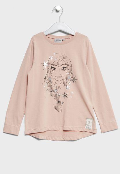 Little Anna Snowflakes T-Shirt