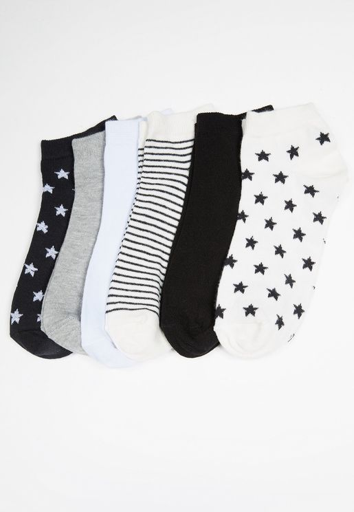 6 Pack Knitted Socks