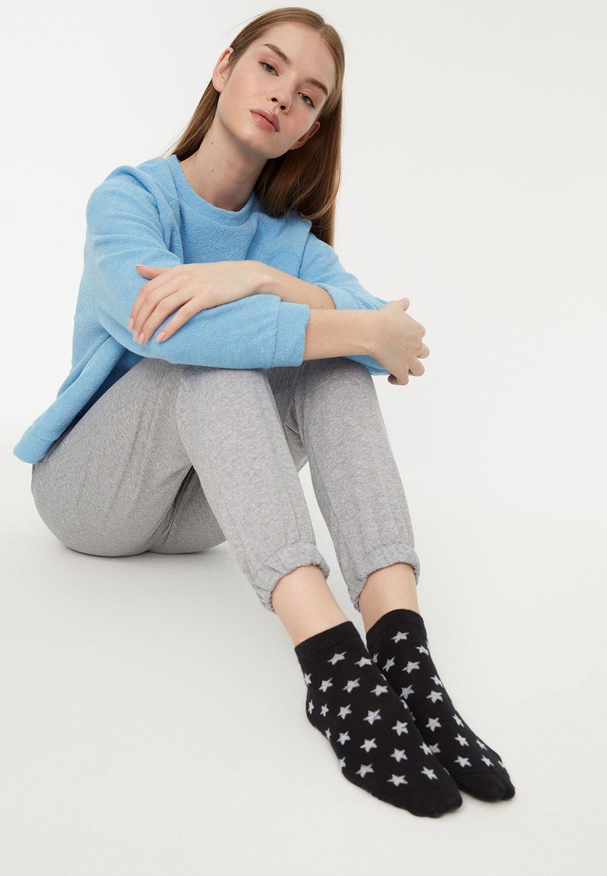 6 Pack Knitted Socks