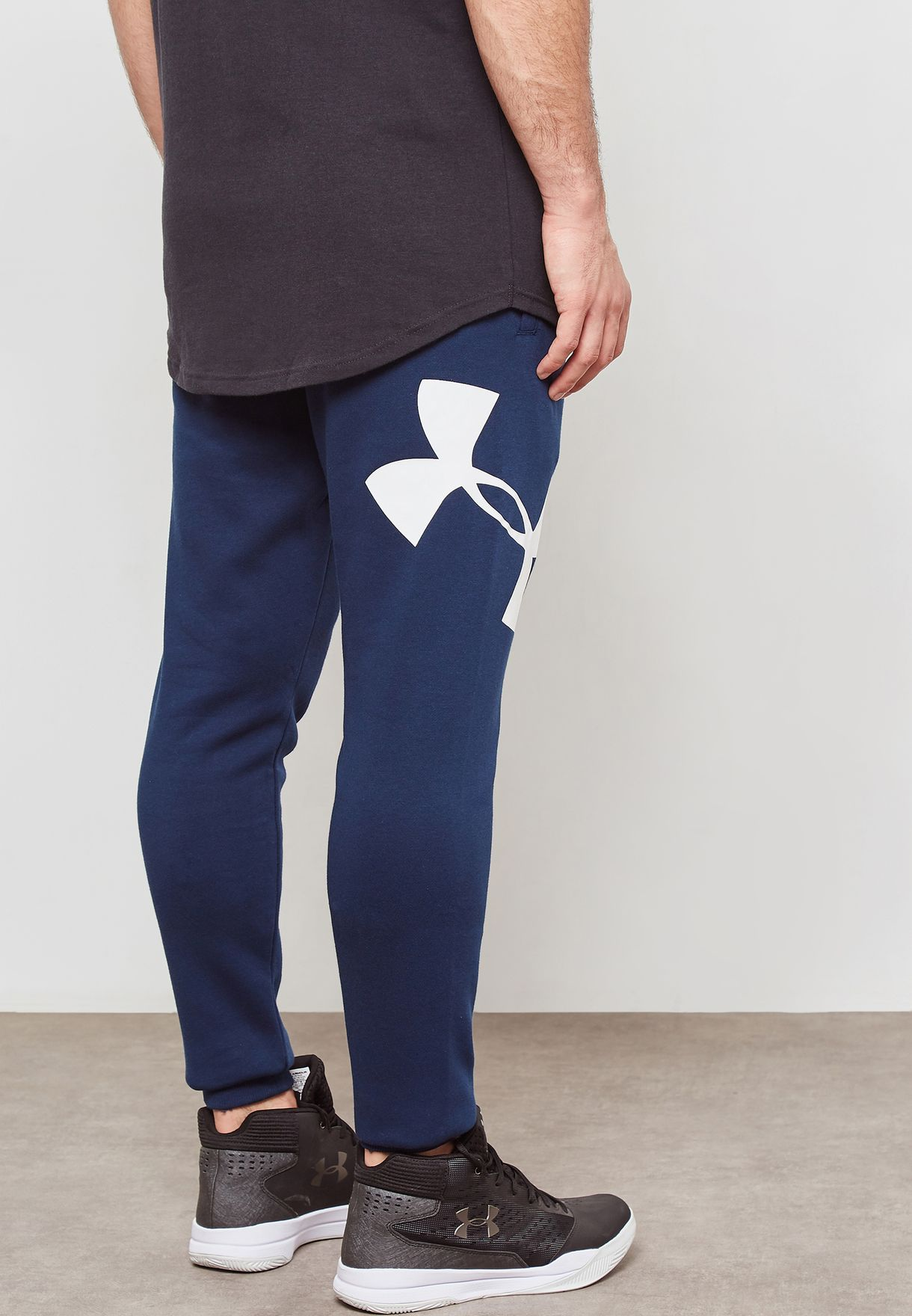 924cff402f7 Shop Under Armour navy Rival Fleece Sweatpants 1329746-408 for ...