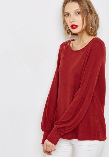 Cuffed Sleeve Sweater