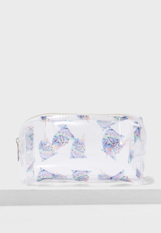 Cat Unicorn Cosmetic Bag